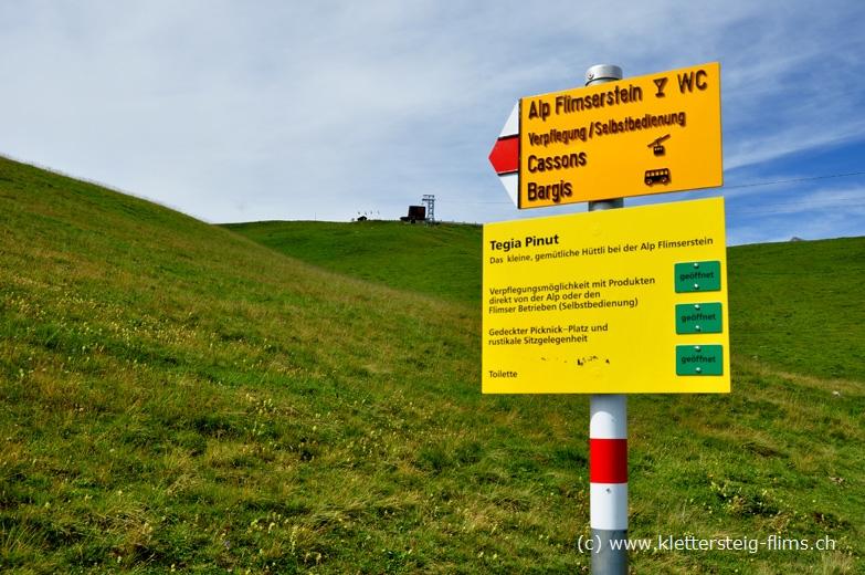 Klettersteig Flimserstein : Klettersteig pinut ausstieg auf dem flimserstein