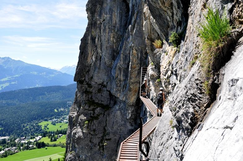 Klettersteig Flimserstein : Imposante hühnertreppe klettersteig flims pinut