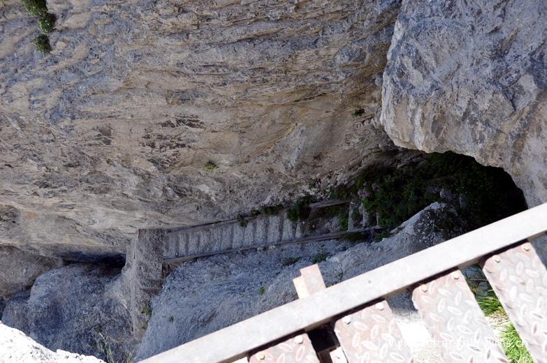 Klettersteig Pinut : Klettersteig pinut in der höhle