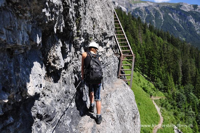 Klettersteig Pinut : Klettersteig pinut bei flims stufe