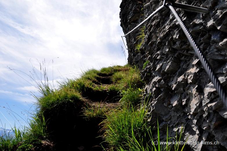 Klettersteig Flimserstein : Aufstieg auf alp flimserstein klettersteig pinut