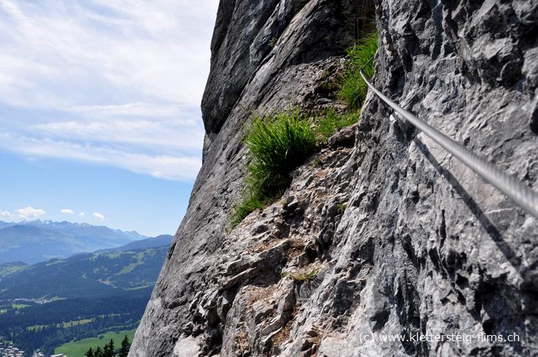 Klettersteig Flims : Klettersteig eisenweg bei flims: stufe 2