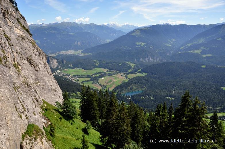 Klettersteig Flims : Klettersteig eisenweg bei flims stufe