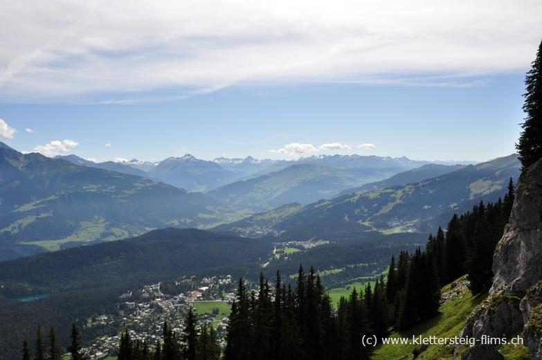 Klettersteig Flims : Klettersteig pinut bei flims stufe