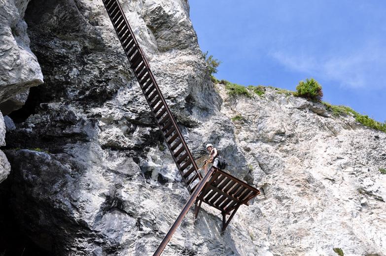 Klettersteig Flims : Klettersteig pinut bei flims: stufe 3