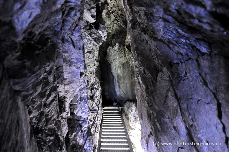 Klettersteig Pinut : Klettersteig pinut der tunnel